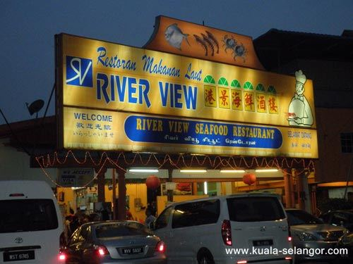Night View Of River View Seafood Restaurant
